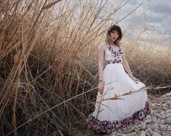 Vintage 70s patchwork style prairie dress