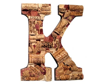 Wine Cork Letter   Handmade and Customized   We Have EVERY Letter