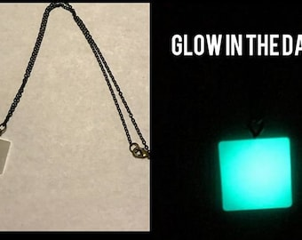 Glow in the Dark Resin Necklace