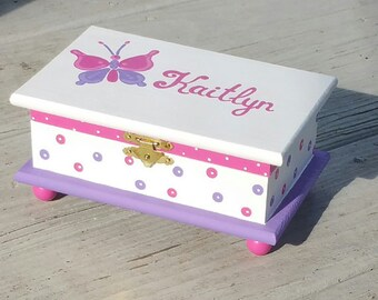 ladybug jewelry box personalized kids jewelry box red box wood box