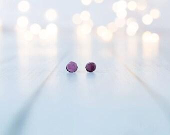Pink Tourmaline earrings | Rubellite stud earrings | Pink tourmaline studs | rubellite post earrings | Tourmaline posts | Rubelite studs