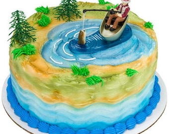 Fisherman with Action Fish Cake Topper Kit