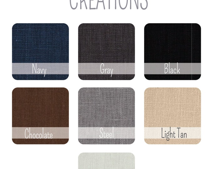 Choose ONE Linen Fabric Swatch - Bow ties, Neck ties, Suspenders Custom Wedding Orders - Swatch Only
