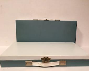 Vintage Smith-Victor steel slide sorter metal case organizer