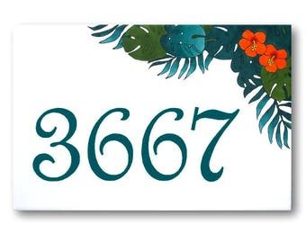 Custom house numbers, Address sign, Outdoor house number, Custom number plaque