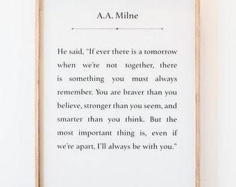 A.A. Milne - Winnie the Pooh - Wood Sign