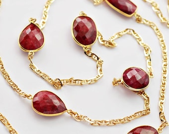 Classic Long necklace – Ruby