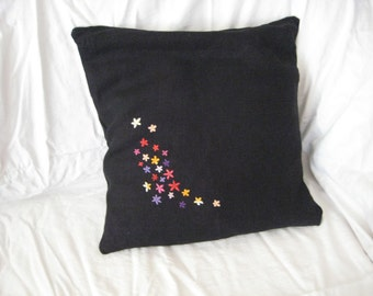 Sale- was 31 USD now 15 USD - Embroidered pillow cover - set of flower