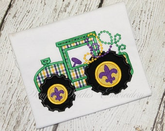 Mardi Gras Beaded Tractor Shirt