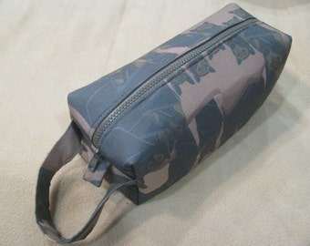 Bats in a Cave with water resistant inside - Cosmetic Bag Makeup Bag LARGE