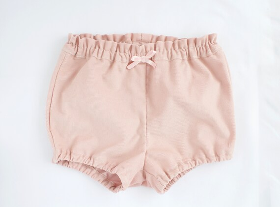 Baby Bloomers/nappy cover/ puff pants/ diaper cover, dusky pink baby cord