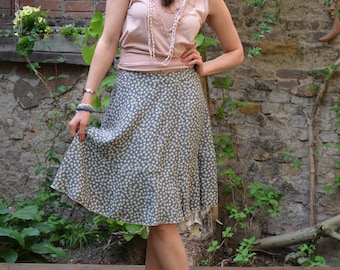 PDF sewing Pattern skirt Swing easy PDF File with E-Book Sewing instructions