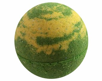 Lemon Verbena Bath Bomb, Bath Fizzy, Handmade Spa Product, Epsom Salts, Hydrating Coconut Oil, Sensitive Skin, Great Gift for Her