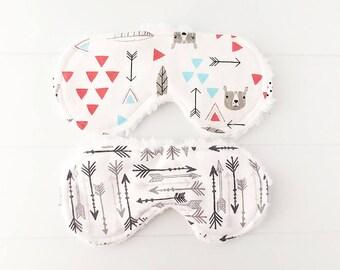 Bear Sleep Mask - Birthday Gift - Eye Mask - Travel Eye Mask - Teacher Giftss - Sleepwear - Boys Sleep Mask - Sleeping Mask