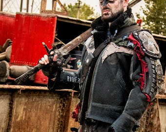Post apocalyptic wasteland leather jacket