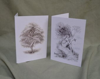 Tree nymphs- greetings cards