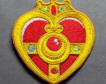 Sailor Moon Cosmic Heart Transformation Compact Cosplay Accessory - Embroidered Patch - Sew-On or Iron-On