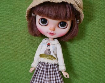 Embroidery by hand : Blythe,pureneemos,licca