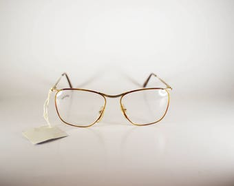 Galileo Paint 03 col 6400 Made in Italy CE Unisex 52-20-140 Vintage Frames Gold Metal NOS Deadstock - Free Shipping-GALF229J-1