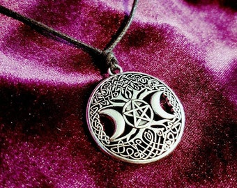 Hecate Tree of Life Pendant - Hekate necklace goth gothic pagan wiccan wiccan pendant