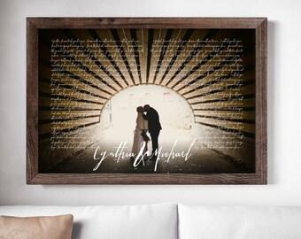 1st anniversary gift - anniversary gift - wedding anniversary gift - first wedding anniversary gift - wedding vow keepsake - wedding vow art