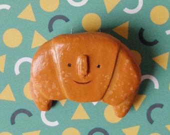Handmade Croissant Brooch