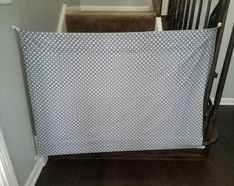 Fabric Baby Gate-Fabric Gate-Handmade-Room divider-Pet Gate-stair gate-Custom