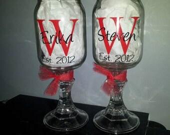 Personalized Redneck Wine Glass - Set of 2