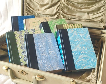 Thick Vintage Books for Home Decor in Greens Blues Grey Set of 7 Book Lot Collection Colorful