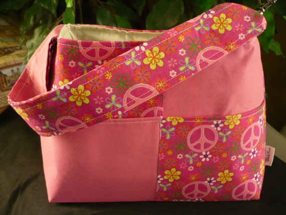 Peace & Love Mini Diaper Bag