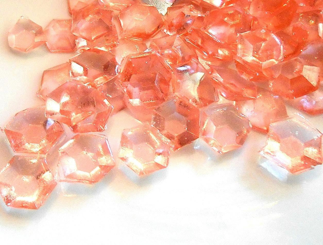 30 Sugar Gems Birthday Cake Decorations Peach Flavored Jewels