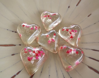 3 oz Heart Candy Sprinkles Valentine Gift Hard Candy Your Choice Color Flavor