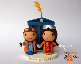 Wedding Cake Topper - Back to the Future Cake Topper