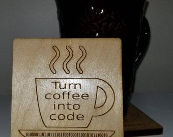 Software Engineer Gift, Software Developer Gift, Computer Programmer Gift, Coder Gift, Father's Day Gift, Mother's Day Gift, Coder Coasters