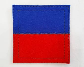 Wool felt coaster nautical signal flag E