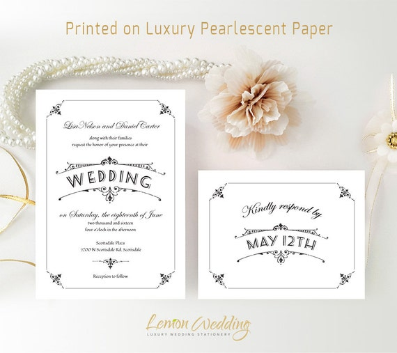 Affordable Wedding Invitation And RSVP Card Printed On