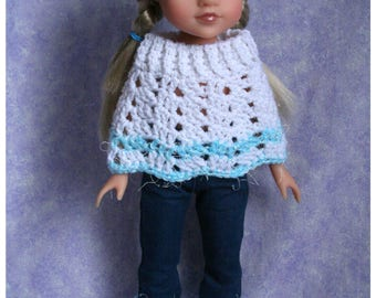 "Hearts for Hearts 14"" Doll Clothing Crochet Matching Set Poncho Hat Boots"