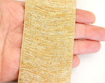 Gold Shimmer Ribbon Lace Trim, Approx. 51mm wide - 140316L117
