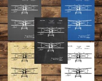 INSTANT DOWNLOAD - Airplane Decor, Airplane Art, Airplane Print, Aviation Decor, Airplane Patent, Aviation Art, Aviation Art, Pilot Gift