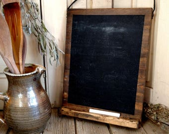 Wooden Chalk Board // Handcrafted // Slate Board // Blackboard // Recipe // Kitchen Accessories // Handmade // Kitchen Witch // Rustic Decor