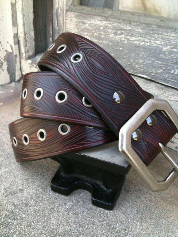 Honeysuckle Rosewood Handcrafted Leather Belt (Limited Edition)