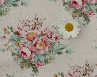 Tilda fabric FQ / Painting Flowers / Limited Edition / Summer Floral White / Fat quarter
