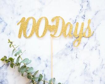100 Days Cake Topper  l  Baby's 100 Days  l  100 Days Topper  l  100 Days Celebration