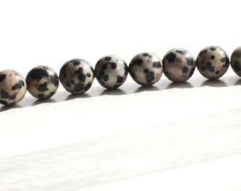 Dalmatian Stone Gemstone Beads 8 mm x 30 beads