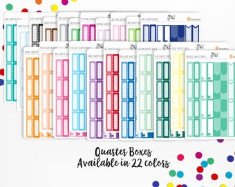 Functional Planner Stickers- Quarter Boxes