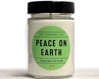 Soy Candles - Twigs of Spruce | Hand poured | Holiday candles | Holiday candles | Christmas tree soy candles | Winter candles | Gift ideas