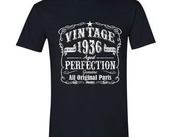 81st Birthday, 1936 Birthday, 1936 Legend. Men's T-Shirt, 81st Birthday Gift, 81st Birthday Idea, 81 Birthday Present, 81 years BLACK 1936