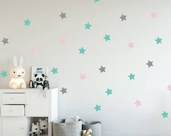 Great Stars Decal   Choose Your Color, Geometric Wall Decal, Wall Decals Nursery,  Scandinavian