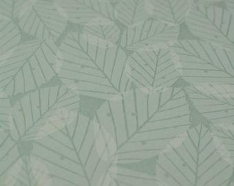 SAMPLE // Green Leaf Leaf Floral Tonal Botanical Woodland Wallpaper // Beech Leaves in 'Mint' by Hannah Nunn