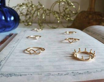 Crown silver Ring, Crown Tiara Ring, Silver Crown Ring , Gold Crown Ring, Gold Promise Crown, princess crown ring, fairy tale ring, royal